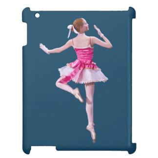 Ballerina i rosor och vit iPad mobil skal