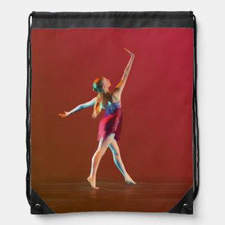 Ballerina i rött gympapåse
