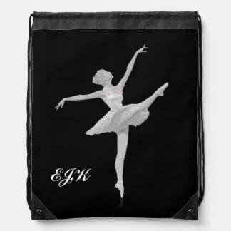 Ballerina i silver och svarten, Monogram Gympapåse