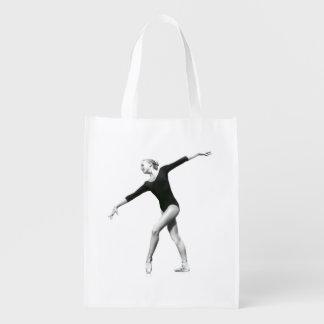 Ballerina i svartvit anpassade återanvändbar påse