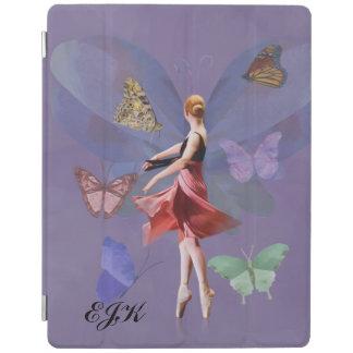 Ballerina och fjärilar, Monogram iPad Skydd
