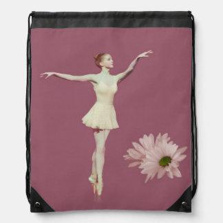 Ballerina på Pointe med daisy, Monogram Gympapåse