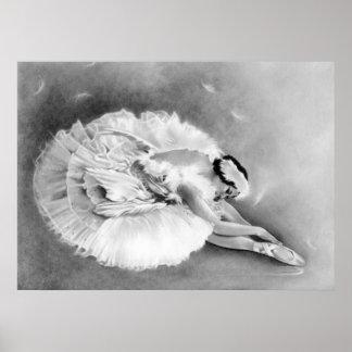 Ballerina som dör svanaffischen poster