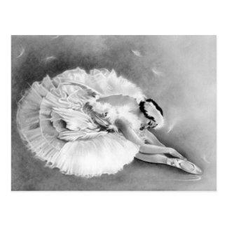 Ballerina som dör svanvykortet vykort