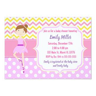 Ballerinababy showerinbjudan 12,7 x 17,8 cm inbjudningskort