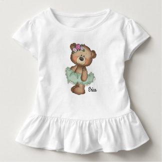 Ballerinabjörnen i grönt småbarn rufsar tröjor