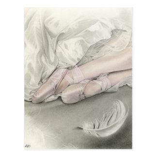 Ballerinadans av svanvykortet vykort