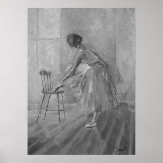 Ballerinadansaretryck Poster