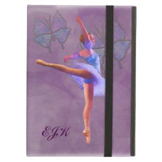 Ballerinaen i Arabesque placerar, monogramen