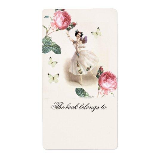 Ballerinafe   bokägarmärke fraktsedel
