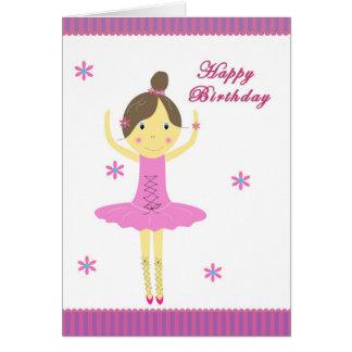 Ballerinafödelsedagkort Hälsningskort