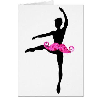 BallerinaMoustache Hälsningskort