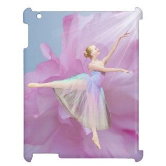 Ballerinarosor och blått med pionblomman iPad mobil fodral