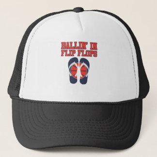 Ballin i flinflip flops truckerkeps
