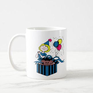 Ballong för gåva för nalle för kaffemugg
