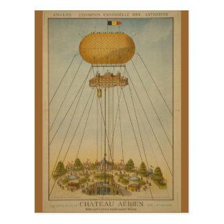 Ballong för slott för luft för Antwerp Expo 1894 Vykort