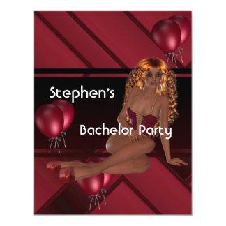 Ballonger för flicka för ungkarlparty S.exy röda 10,8 X 14 Cm Inbjudningskort