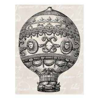 Ballonger för Retro Airship för vintageluftballong Vykort