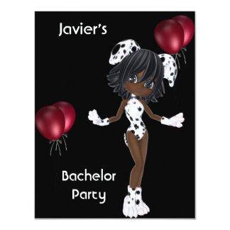 Ballonger för vit för svart för flicka för 10,8 x 14 cm inbjudningskort