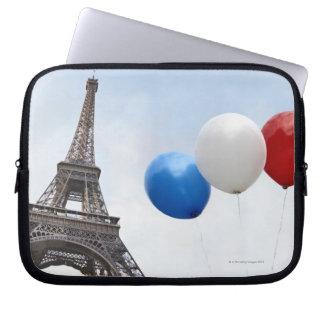 Ballonger i färgerna av den franska flagga in laptop fodral
