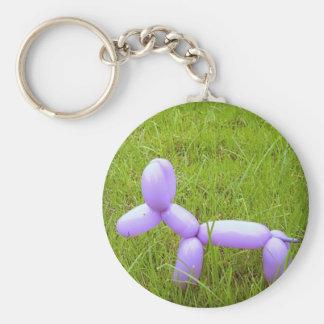 Ballonghund Keychain Rund Nyckelring