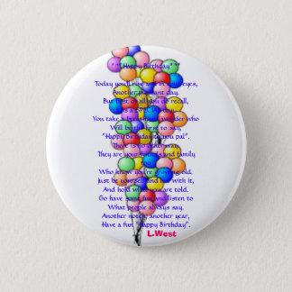 balloon15 *^*Happy Birthday*^*Today ska du ris… Standard Knapp Rund 5.7 Cm