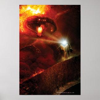 Balrog kontra Gandalf Poster