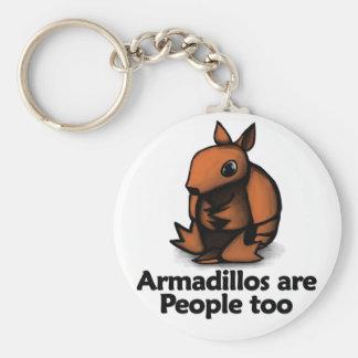 Bältdjur är folk för rund nyckelring