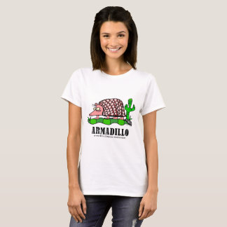 Bältdjur vid Lorenzo kvinna T-tröja T-shirts