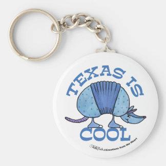 Bältdjuret Blått-Texas är kall Rund Nyckelring