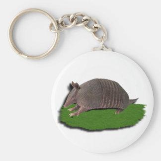 Bältdjurgräs Rund Nyckelring