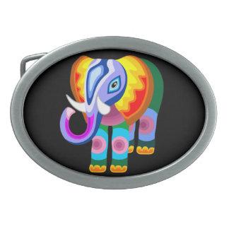 Bältet för patchworken för elefantregnbågefärger s