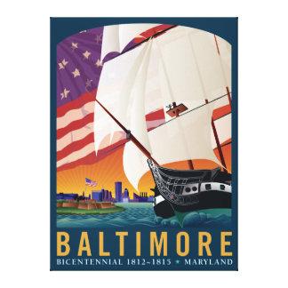 Baltimore: Vid gryning tidigt tända Canvastryck