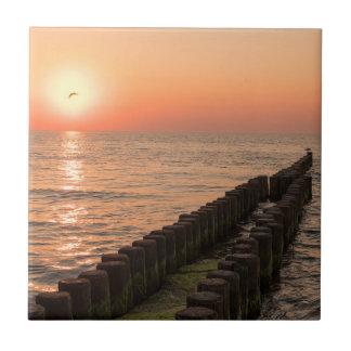 Baltisk solnedgång liten kakelplatta