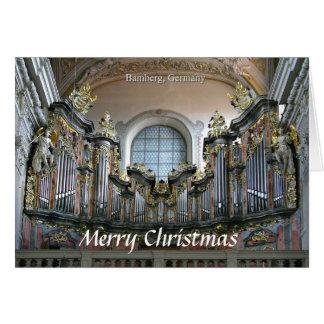 Bamberg organjulkort hälsningskort