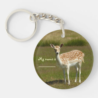 'Bambi Dubbelsidigt Rund Akryl Nyckelring