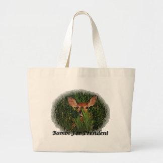 Bambi för president jumbo tygkasse