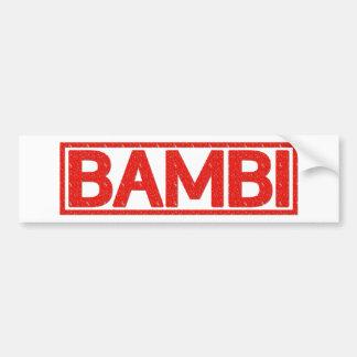 Bambi frimärke bildekal