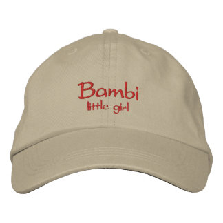 Bambi känt lock/hatt broderad keps