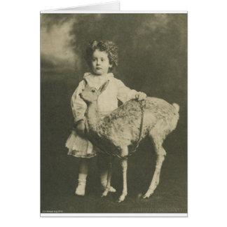 bambi och barn hälsningskort