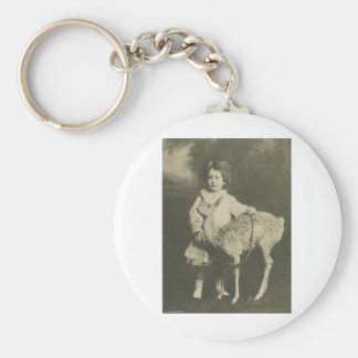 bambi och barn rund nyckelring