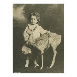 bambi och barn vykort