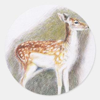 Bambi Runda Klistermärken