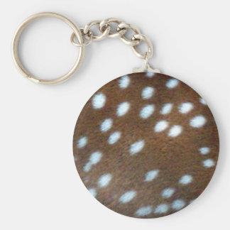 Bambi vit pricker på brun päls rund nyckelring