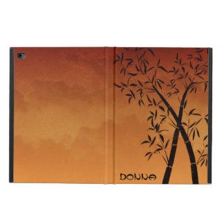 Bambu och berg beskådar solnedgångmonogramen powis iPad air 2 skal