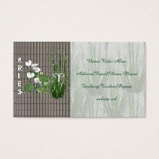 Bambu- och liljavädur visitkort