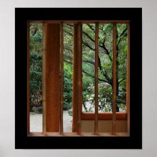 Bambufönster Poster