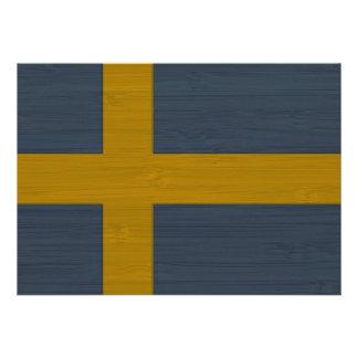 BambuLook inristad svensk Sverige för sverige fl Unika Inbjudningar