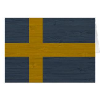 BambuLook & inristad svensk Sverige för sverige fl Hälsningskort