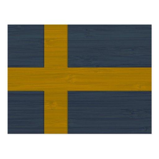BambuLook & inristad svensk Sverige för sverige fl Vykort